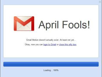 Gmail Motion April Fools