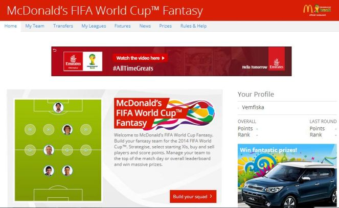Fantasy World Cup 2014
